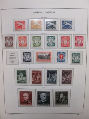 SAAR, DANZIG, MEMEL & GERMAN COLONIES - Highly complete collection of hundreds of VERY FINE, og, often NH stamps from the most popular period of German Philately. Loaded with better sets, all in pristine Schaubek Hingeless Specialty albums with slipcase.