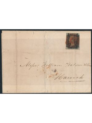 (1), on cover with well centered Red Maltese cancel, VERY FINE