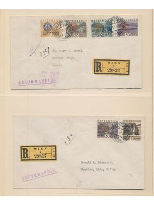 (B87-B92), on two covers, VERY FINE (MI €600)