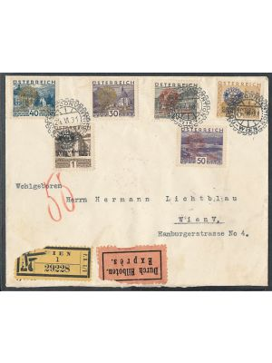 (B87-B92), on cover, VERY FINE (MI €600)