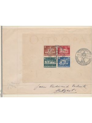 (B68), on cover, VERY FINE  (MI €1100, value for block used with Special Event cancel)