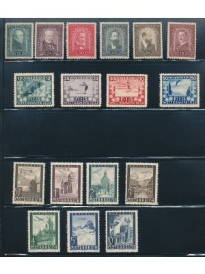 AUSTRIA - Better mint group of sets and singles, on stock pages. Highlights include #405-23, 599-603, B100-05, B106-09, B245-51 (NH blocks of four), among others. Gen. VERY FINE, og, some are NH