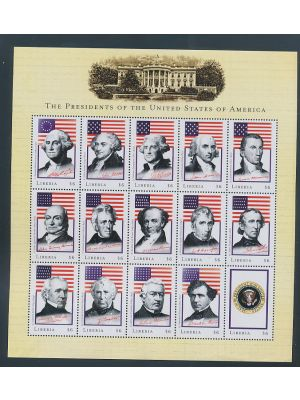 LIBERIA - Hefty group containing souvenir sheets and sheetlets, in glassines. This selection is comprised of items issued by overseas stamp agents during the Civil War that took place from 1999 to 2004. Lots of topical appeal. Gen. EXTREMELY FINE, og, NH