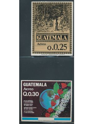 1984 25c & 30c National Coffee Production footnoted souvenir sheets, two sets, EXTREMELY FINE, og, NH