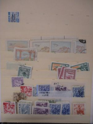 GREECE - HIGH QUALITY BACK-OF-THE-BOOK stored neatly in a binder on Scott numbered stock pages. The selection begins with Airmails and includes loads of premium sets and singles, including notable highlights like mint #C1-C4, C25, C44, C45, C47, RA23a, RA