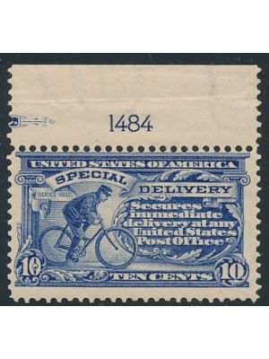(E6), with plate number, F-VF, og, NH - 402682