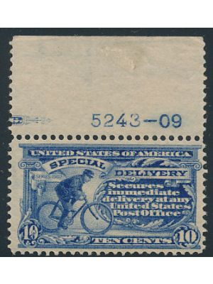(E6), with plate number selvage, VERY FINE, og, NH - 402699