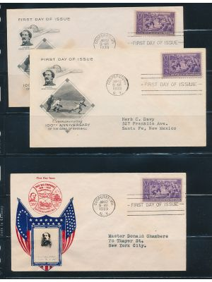 (855), 16 First Day Covers, - 402728