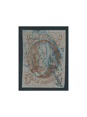 (1), blue cancel, F-VF - 402759