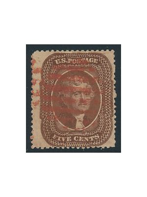 (30A), red cancel, VERY FINE - 403322