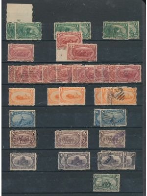 (285-291), mint and used stock, arranged on a stock page - 403406