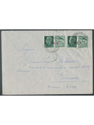 (Sassone Military #15/I), GNR overprint, two on cover, VERY FINE (Sassone €340) - 403429