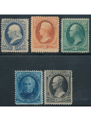 (182-185, 190), VERY FINE, #182-183 og, #184-185, 190 no gum