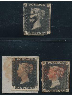 (1), three stamps, VERY FINE - 404359