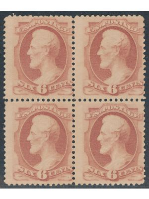 (186), block of 4, F-VF, no gum - 404574