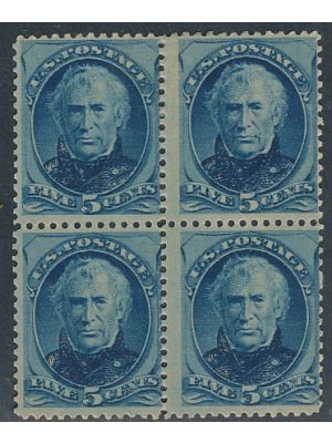(185), block of 4, F-VF, OG, 2 stamps NH - 404575