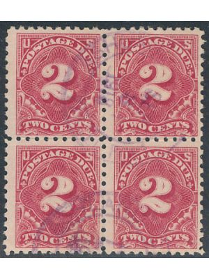 (J60), block of 4, VERY FINE, APS Cert - 404576