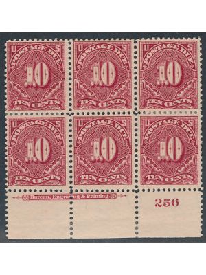 (J42), Plate # Block of 6, VERY FINE, og - 404597