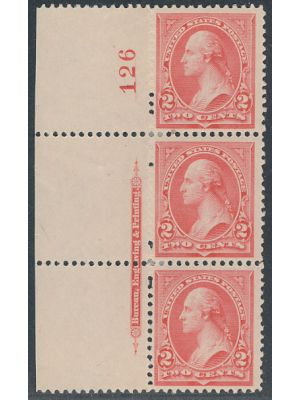 (251), Imprint & Plate # Strip of 3, EXTREMELY FINE, og, NH - 404619