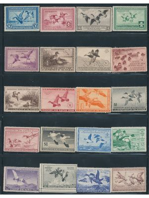 DUCK STAMPS - HIGH QUALITY MINT COLLECTION FROM RW1 TO RW66 - 404612