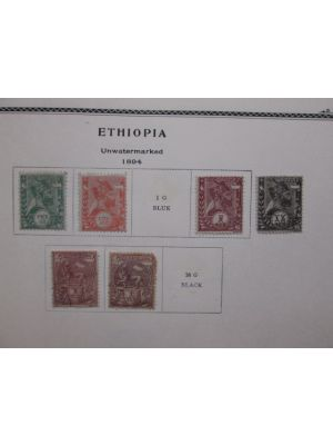 ETHIOPIA & LIBERIA - NICE COLLECTION IN A NICE ALBUM - 405302