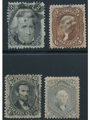 (73, 76-78), #78 red cancel, EXTREMELY FINE - 405579