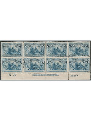 (230), plate & imprint block of 8, VERY FINE, og - 405705