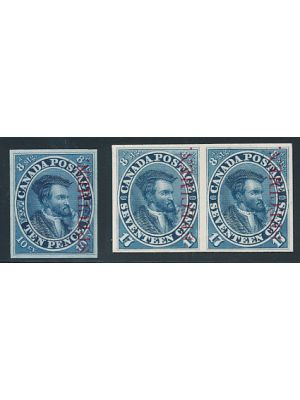 (7P), proofs, single on India, pair on card, VERY FINE (Unitrade C$900) - 405962