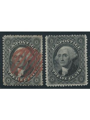 (36, 36B), #36 red cancel, EXTREMELY FINE,  - 406143