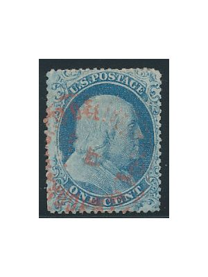 (18), red cancel, EXTREMELY FINE - 406150