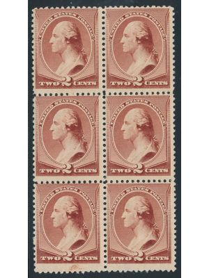 (210), block of 6, F-VF, og, NH - 406359