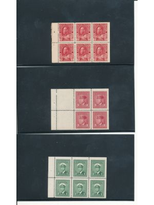 (106a {27}, 249b {33}, 251a {151}), booklet panes, VERY FINE, og, NH - 406404
