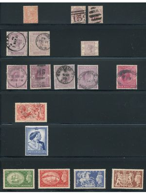 GREAT BRITAIN - Small survey of 17 higher catalog issues - 406470