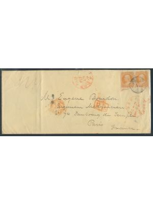 (71), pair tied on cover to Paris,  VERY FINE - 406876