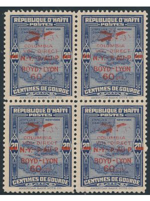 (C4A), block of 4, EXTREMELY FINE, og, NH - 406888