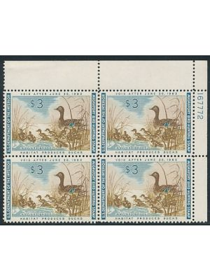 (RW28), plate block of four, VERY FINE, og, NH -407154