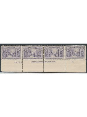 (235), plate # strip of four with imprint & letter, VERY FINE, og, NH - 407202