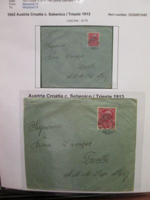 AUSTRIA - USED IN TRIESTE - 3 VOLUMES FROM A WONDERFUL SPECIALIZED COLLECTION - 407385
