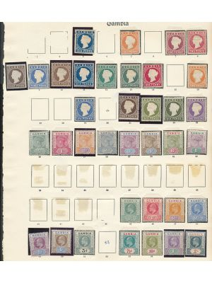 GAMBIA - ALL-MINT COLLECTION OF HIGH QUALITY SETS AND SINGLES TO 1938 - 407488