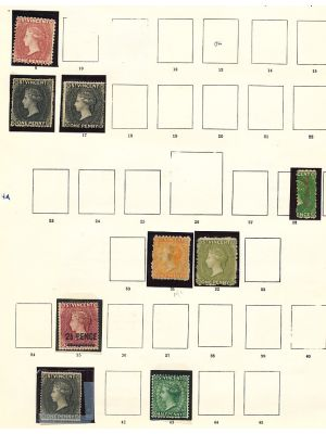 ST. VINCENT - VERY IMPRESSIVE 100% MINT COLLECTION TO 1938 - 407679