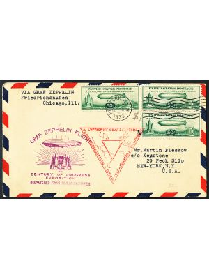 (C18), First Day Flight Cover with three examples of the issue, VERY FINE - 407878