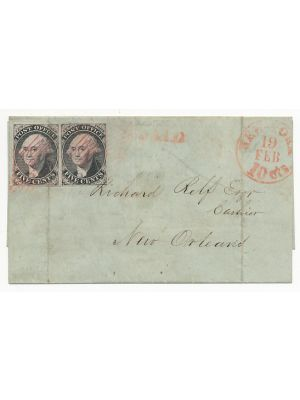 (9X1), pair on cover, filing crease, VERY FINE - 407896