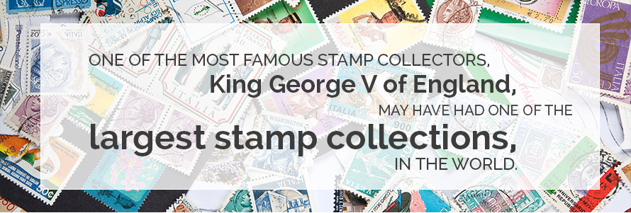 Famous Stamp Collector - King George V