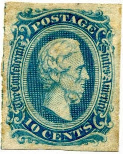 confederate states stamp