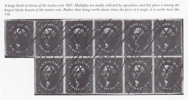 Twelve Cent Stamps Were Printed Very Closely Together With Any Margins Let Alone Clear On All Four Sides Are Rare